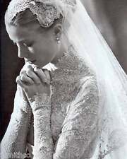 Grace Kelly Wedding Dress 8x10 Photo 002