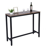 Household Pub Table Counter Height Dining Table For Kitchen Nook Home Desk USA