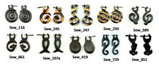 20 Hippie Boho Wood Tribal Danglers USA Wooden Earrings Wholesale LOT From India