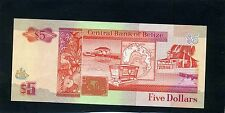 Belice cinco billetes de 5 dólares 1990 UNC