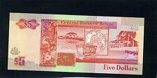 Belize Five $5 Dollars Banknote 1990 UNC
