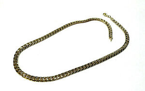Bijou plaqué or 18 carats chaine collier maille anglaise necklace