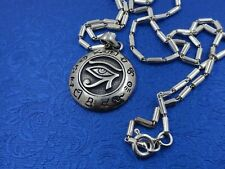 Eye of Horus Pendant Sterling Silver 18 Inch Chain 925 Egyptian All Seeing Eye
