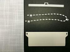 Replacement Vertical Blind Slats - Patterned Crosshatch White - 89mm/127mm Slats