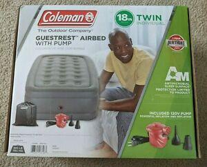 Coleman GuestRest Double High Air Mattress w/ External Pump - Twin, New In Box