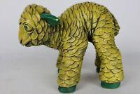 Rare Vintage Lloyd Bryan 1968 Signed Mid Century Yellow Ceramic Lamb Sculpture
