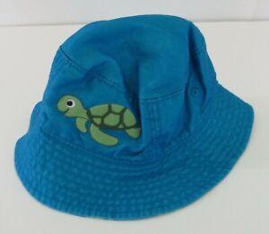 NWOT GYMBOREE Baby Sun Hat 12-24 Months Turtles Blue #5