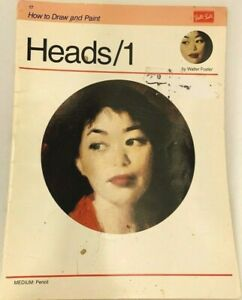 Vintage Art Book How to draw and paint Heads /1 Pencil  Walter Foster