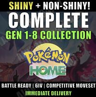 Pokemon Home COMPLETE Gen 1-8 Pokedex - SHINY + NON-SHINY - IMMEDIATE DELIVERY