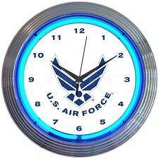 U.S. Air Force Neon clock Sign Licensed and checked by Usaf Airforce Usa Veteran