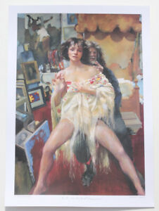 Robert Lenkiewicz print, The Painter with Benedike. Plus FORL certificate Mint!