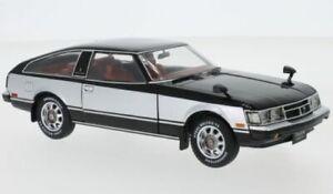 TOYOTA CELICA XX model road car Black & silver 1978 1:24th WHITE BOX 124060