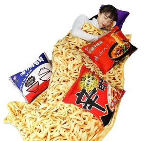 Kawaii Clothing Blanket Ramen Noodles Japanese 3D Funny Pillow Cushion Harajuku