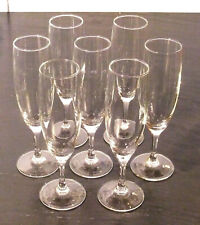 Lot of 7 Champagne Flutes Crystal Luminarc