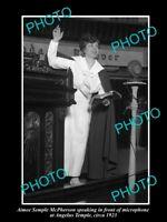 OLD LARGE HISTORIC PHOTO OF AMERICAN EVANGELIST AMIEE SEMPLE McPHERSON c1923
