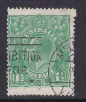 G658)Australia 1923 KGV Single wmk 1½d Green BW 88, a most unusual 'Jumbo' stamp