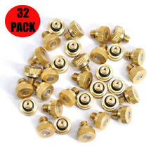 32 Pcs Brass Misting Nozzles For Outdoor Cooling Water Mist Fog Spray System Kit