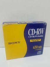 Sony CD-RW 650MB x5 Multi Speed 1x 2x 4x