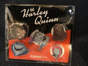 DC Harley Quinn NY Comic Con 2019 Special Release Collector Lapel Pins FULL SET