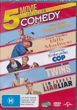 5-movie Happy Gilmore Billy Madison Kindergarten Cop Liar Liar Twins DVD NEW