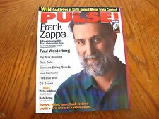 PULSE MAGAZINE AUGUST 1993 FRANK ZAPPA REPLACEMENTS MUSIC AND ARTS