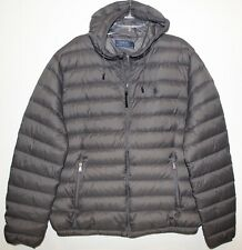 Polo Ralph Lauren Big and Tall Mens Gray Puffer Down Hooded Jacket NWT Size 3XLT