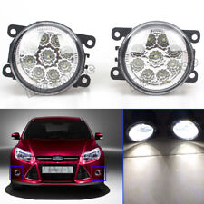 2x LED FRONT FOG LIGHT LAMPS For MITSUBISHI L200 K74 2001-2006 Outlander 2006-12