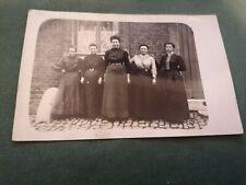 ancienne photo carte postale  groupe femme en pose