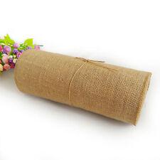 Hessian Fabric Roll 30cm x 10m Natural Burlap Jute Wedding 1 foot by 10 metres