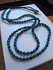 Chan Luu Necklace Xtra Long Delicate Dazzling Dk Teal Jade Faceted Layering NEW