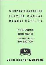 Werkstatthandbuch,Reparaturanleitung CD-Rom zum John Deere-LANZ 300 500 700