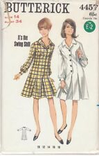 Vintage One Piece Dress Sewing Pattern B4457 Size 14