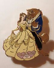 DISNEY AUCTIONS VALENTINE'S DAY 2002 BEAUTY & THE BEAST BELLE & BEAST LE 100 PIN