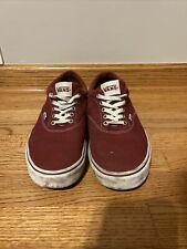 VANS Off The Wall Maroon Burgundy Skateboard Shoes Men's Size 12 #721356