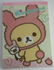San-x Rilakkuma Usagi Rabbit Kawaii Large Memo Pad stationery stickers
