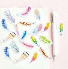 45pcs/pack Mixed Feather shape sticker decorative Diary album Sealing stickers