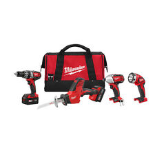 Milwaukee 2695-24 M18 18-Volt Cordless Power Lithium-Ion 4-Tool Combo Kit