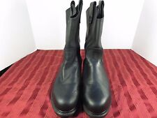 Establo Working Boots (BT) ID 13348  Black Leather Steel Toe Men Sz 8 US/27 Mex