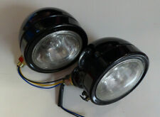 A Pair Of GLOSS BLACK UNIVERSAL Tractor Lights FORD, FORDSON, NUFFIELD, MASSEY