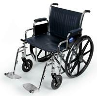"""Medline Extra-Wide Bariatric Wheelchair with 24"""" Seat,  1 Each-MDS806900"""