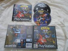 Crash Bandicoot 2 Cortex Strikes Back PS1 (COMPLETE + DEMO) PlayStation black