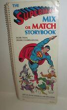 VINTAGE 1979 SUPERMAN DC COMICS SPIRAL BOUND MIX OR MATCH STORYBOOK RANDOM HOUSE