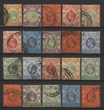 Hong Kong Collection 20 KEVII Values Used