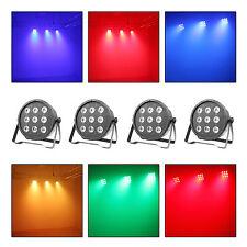 LED Par Up Lighting RGBW DJ DMX Color Mixing Wash Stage Wedding Lights 4 Pack