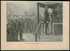 1893 Antique Print - LONDON Hyde Park Fire Brigade Review  (09)