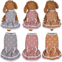 Cute Small Pet Dog Vest Clothes Cat Bow Dress Princess Party Skirt Puppy Costume