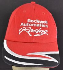 Red Rockwell Automation Racing Embroidered baseball hat cap adjustable snapback