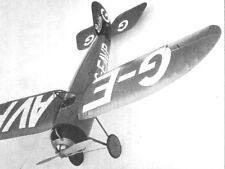 """Model Airplane Plans (Ff): Bristol M1D 26½"""" Scale Rubber-Powered by Bill Dennis"""