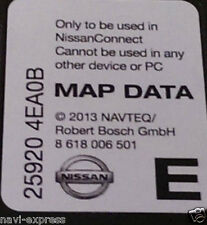 Nissan Connect 3 Navigation Carte SD Europe 2013 Note, Juke, Qashqai, Micra, CUBE