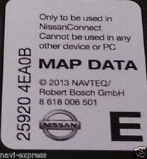 NISSAN CONNECT 3 Navigation SD Card EUROPA 2013 Note, Juke, Qashqai, Micra, Cube